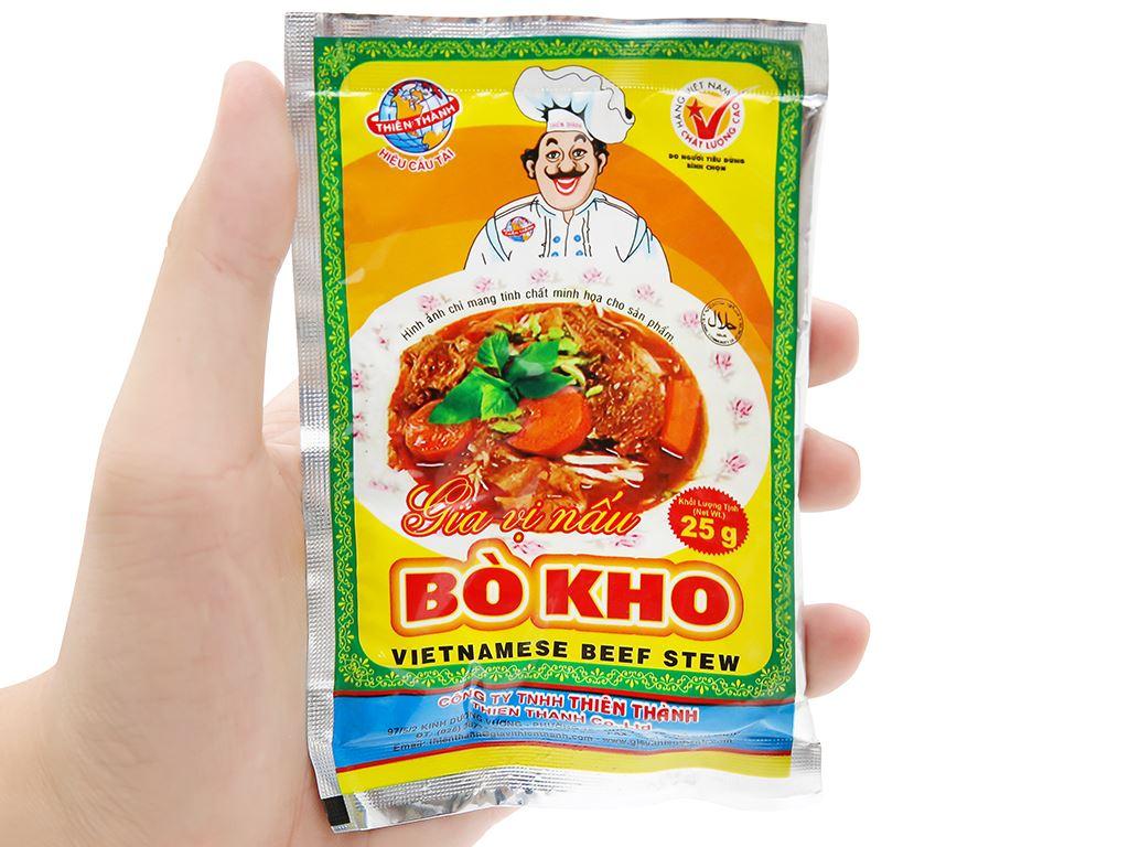 Gia vị nấu bò kho Thiên Thành gói 25g 8