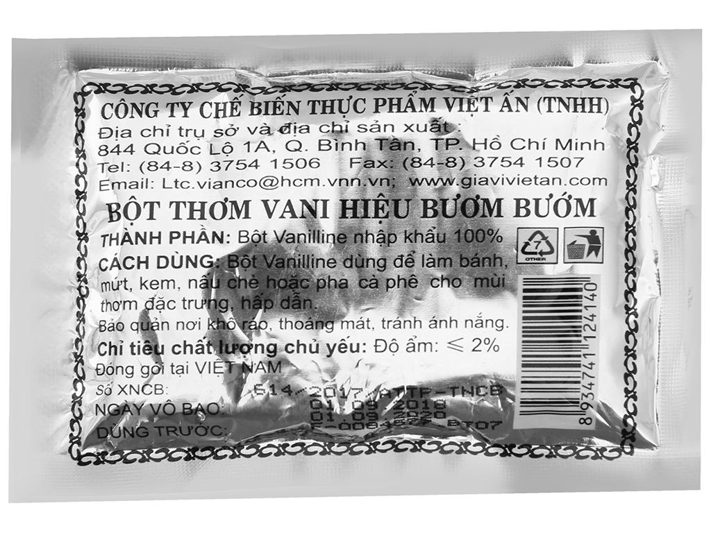 Bột vani Vianco Hiệu Con Bướm gói 2.5g 2
