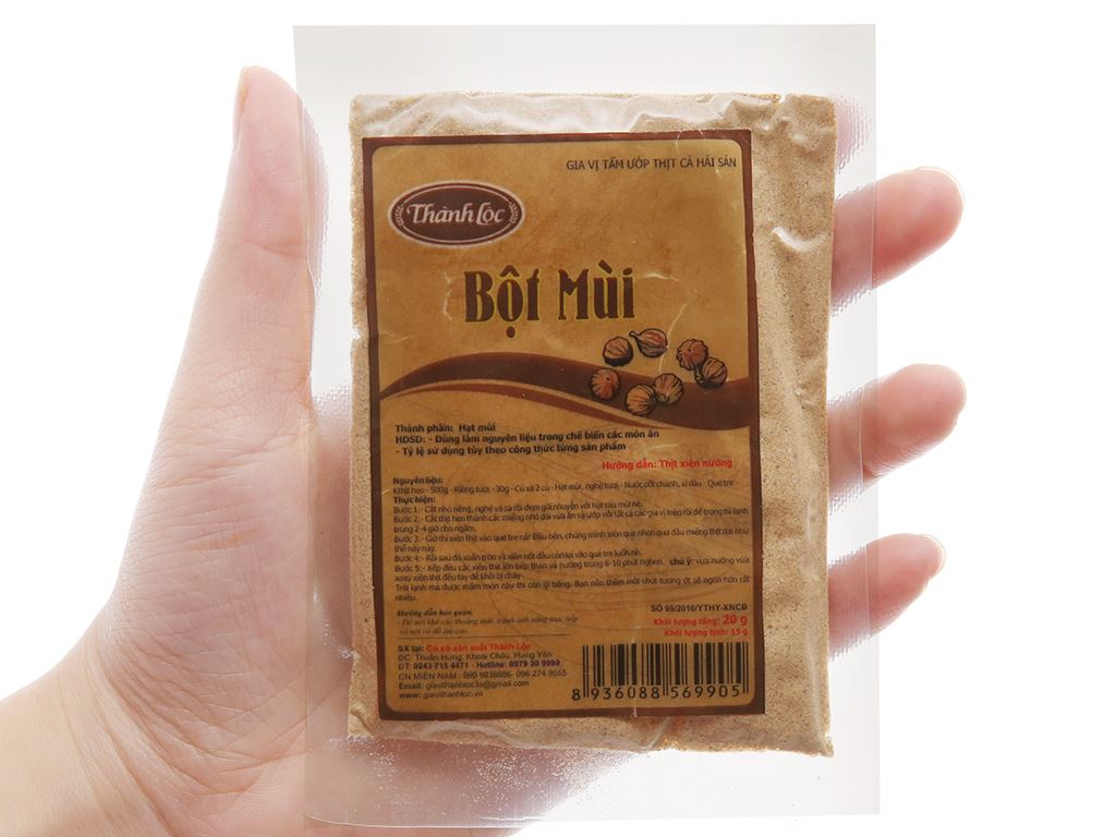 Bột mùi Thành Lộc gói 20g 3