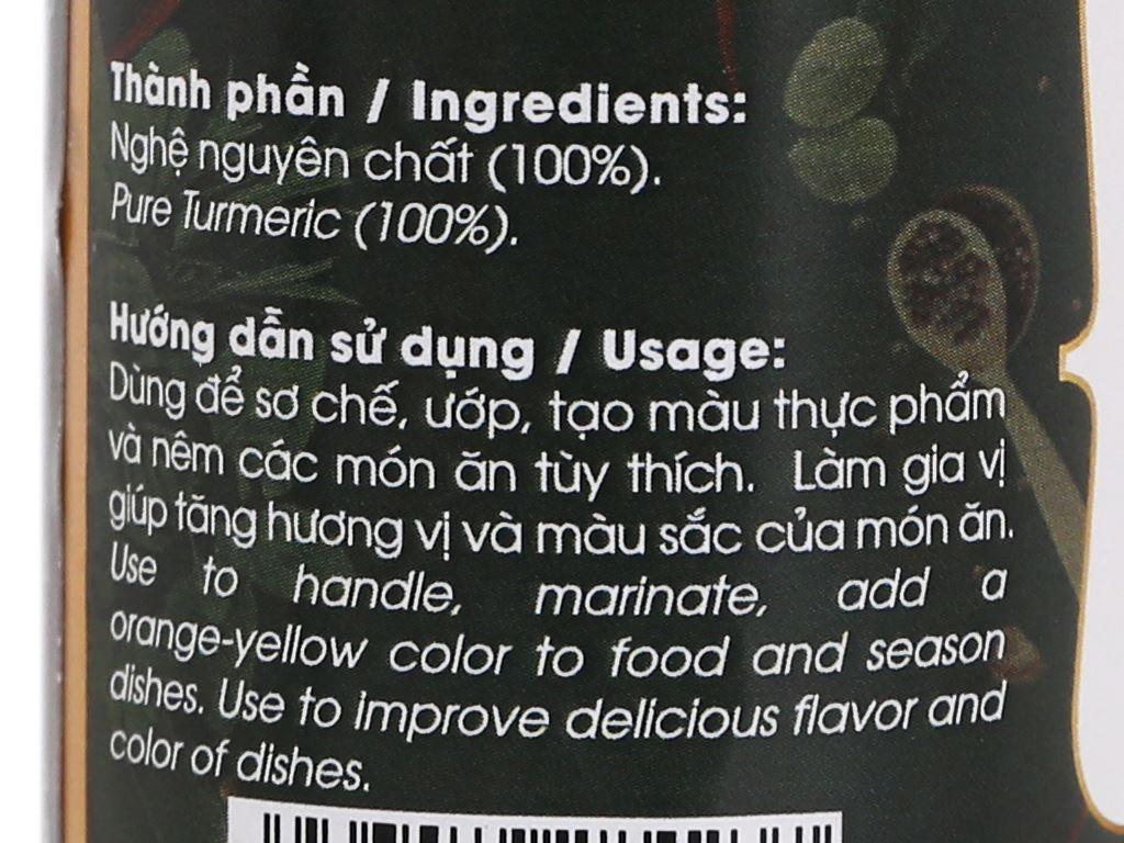 Nghệ bột Dh Food Natural hũ 40g 3