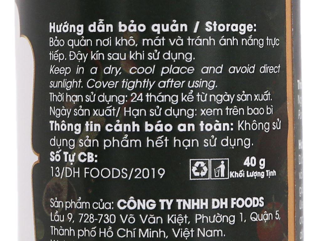 Nghệ bột Dh Food Natural hũ 40g 4