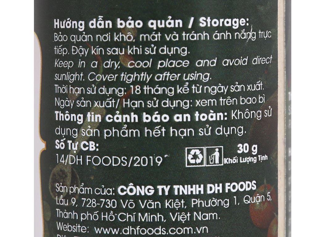 Sả bột Dh Food Natural hũ 30g 4