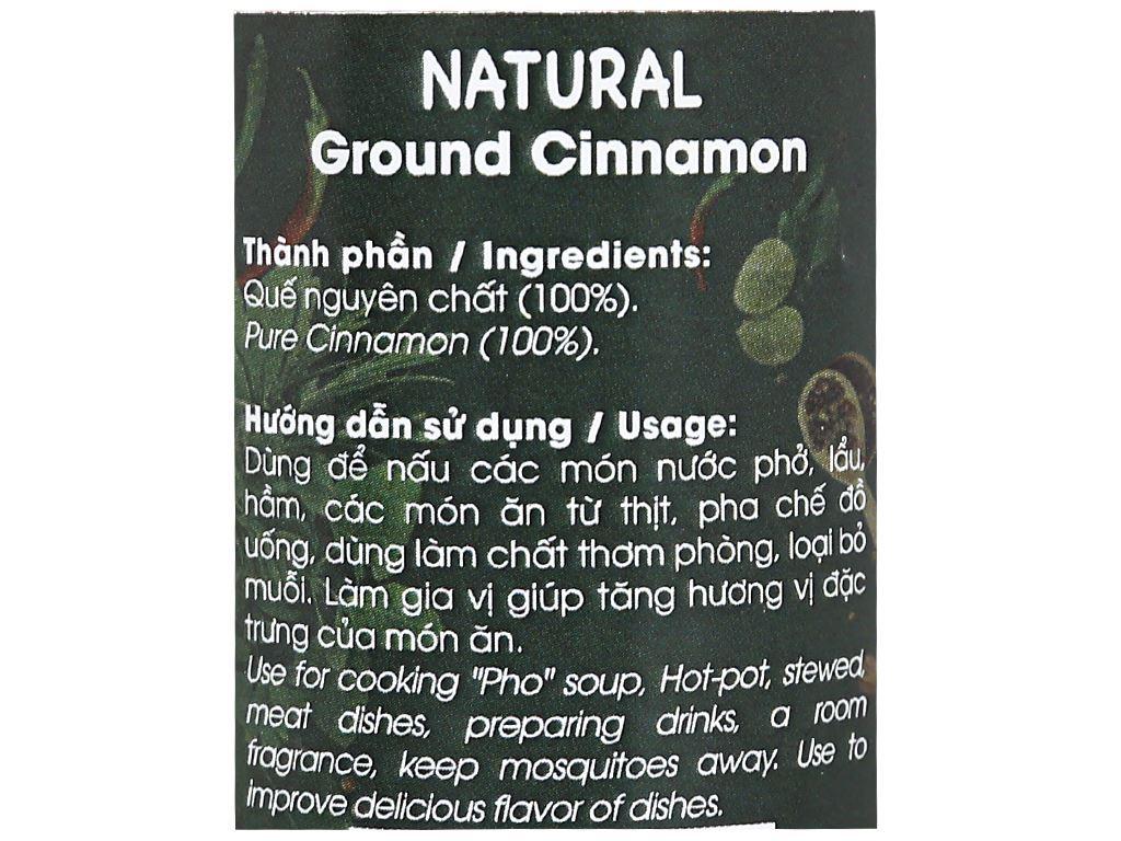 Bột quế ống Dh Food Natural hũ 40g 3
