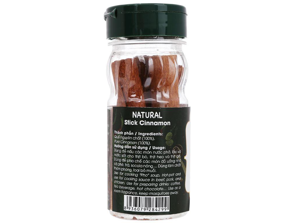 Quế cây Dh Food Natural hũ 20g 2