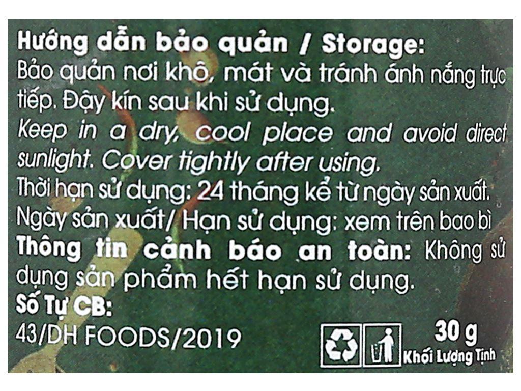 Hạt dổi Dh Food Natural hũ 30g 5