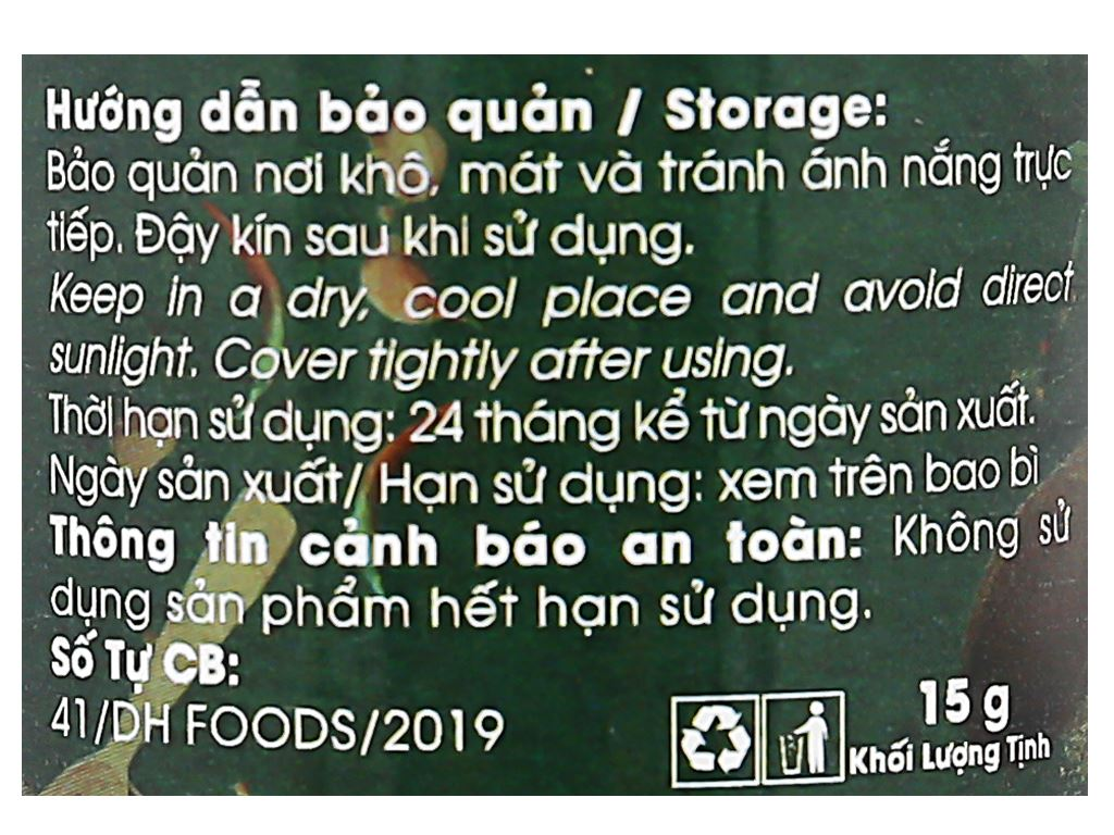 Hạt mắc khén Dh Food Natural hũ 15g 4
