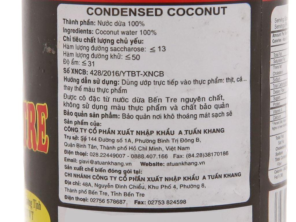 Nước màu dừa Bến Tre A Tuấn Khang chai 150g 3