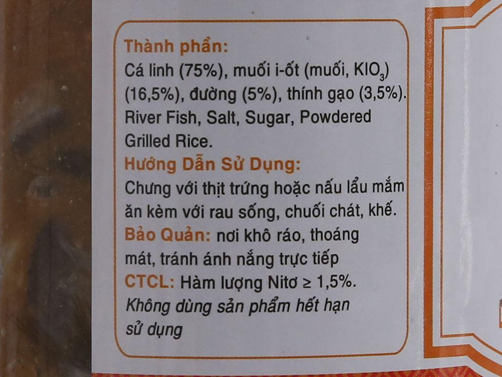 Mắm cá linh Sông Hương hũ 400g 2