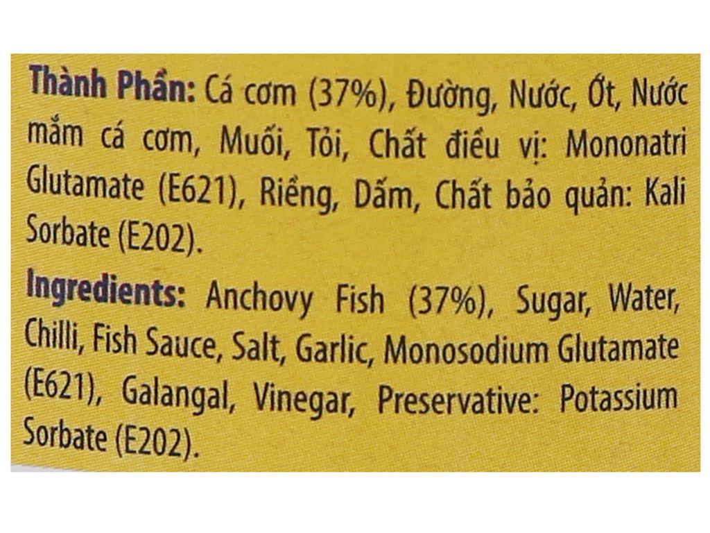 Cá cơm chua ngọt Vasifood chai 300g 5