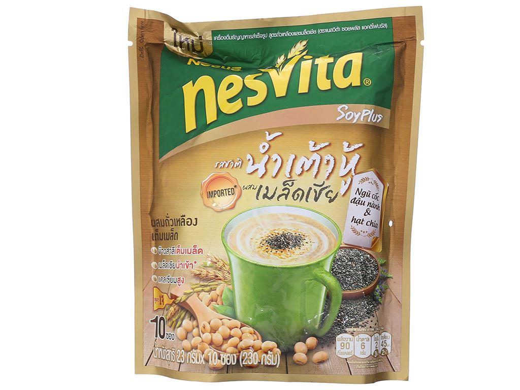 Ngũ cốc dinh dưỡng đậu nành và hạt chia Nesvita bịch 230g 2