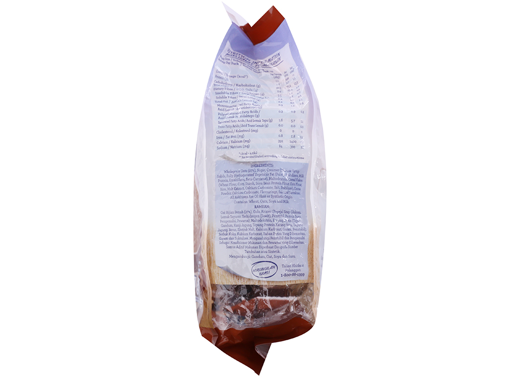 Thức uống yến mạch 3 trong 1 vị chocolate Quaker bịch 420g 3