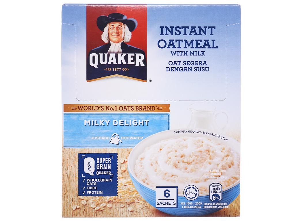 Yến mạch ăn liền vị sữa Quaker Milky Delight hộp 180g 1