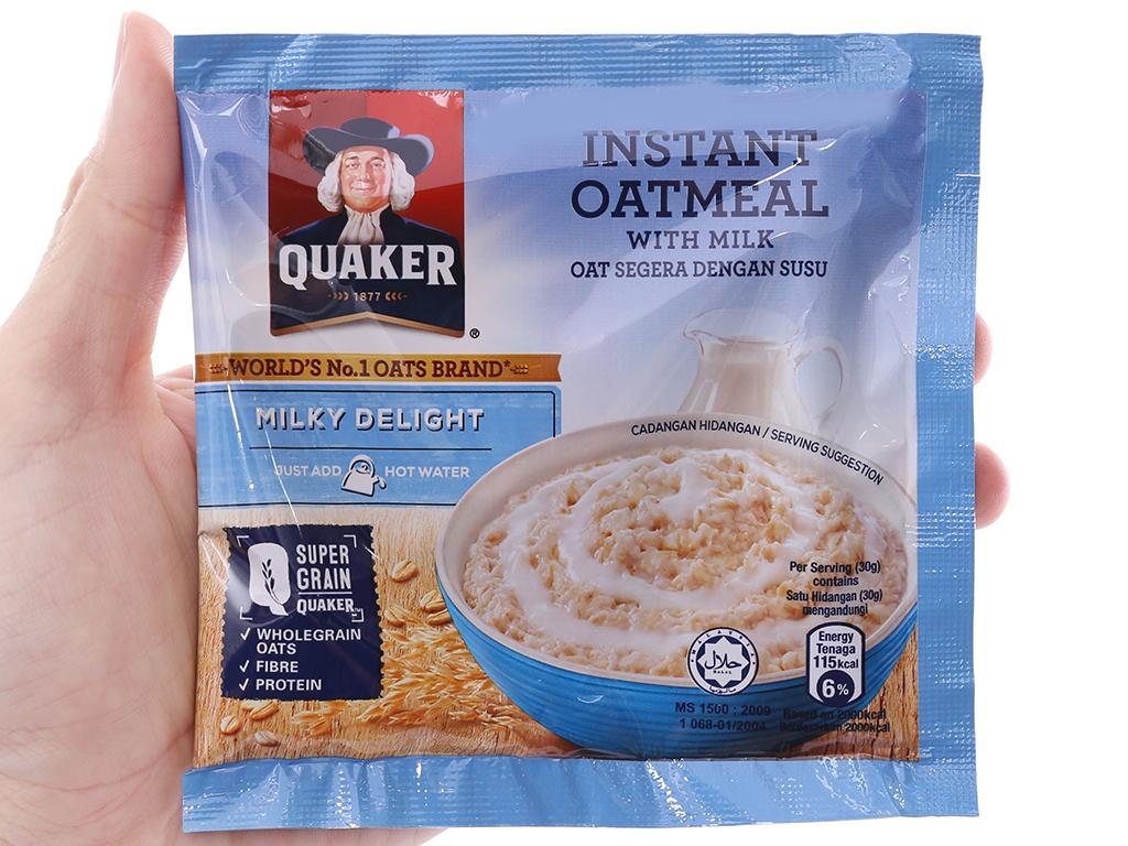 Yến mạch ăn liền vị sữa Quaker Milky Delight hộp 180g 4