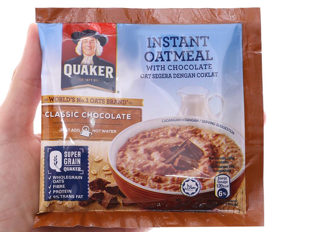 Yến mạch ăn liền vị chocolate Quaker Classic hộp 180g 4