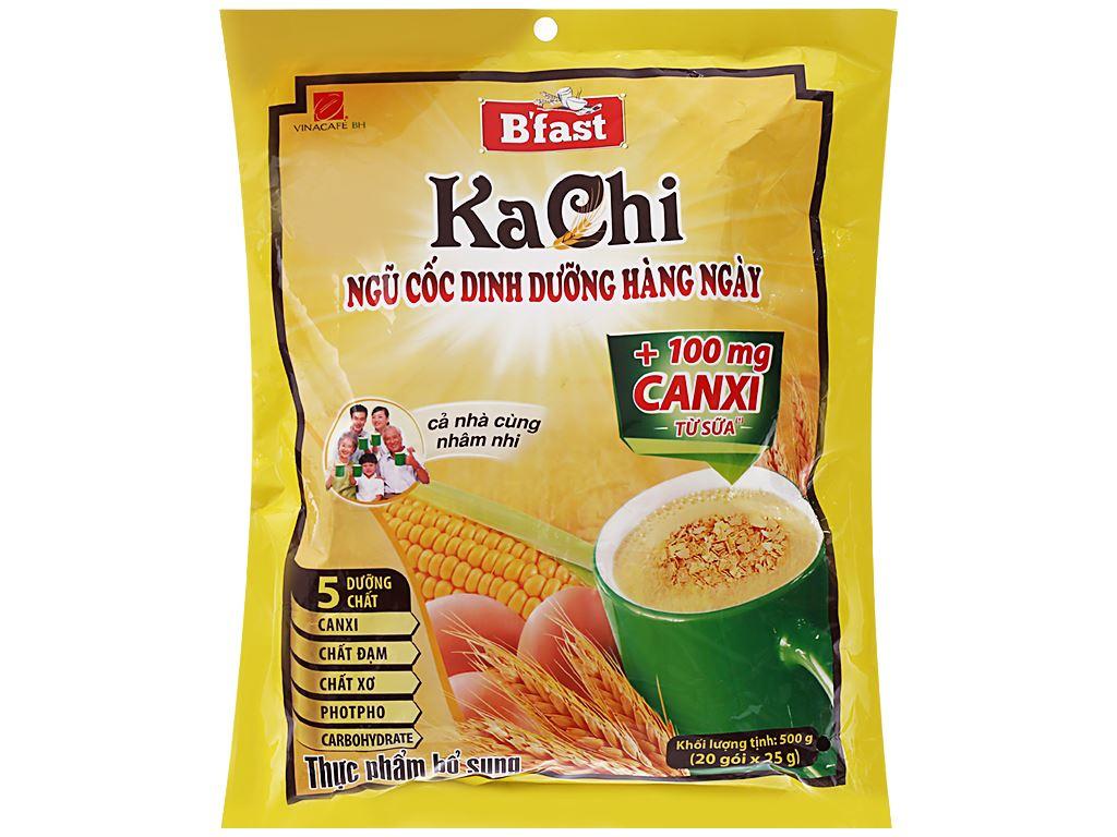 Ngũ cốc dinh dưỡng VinaCafé B'fast Kachi bịch 500g 1