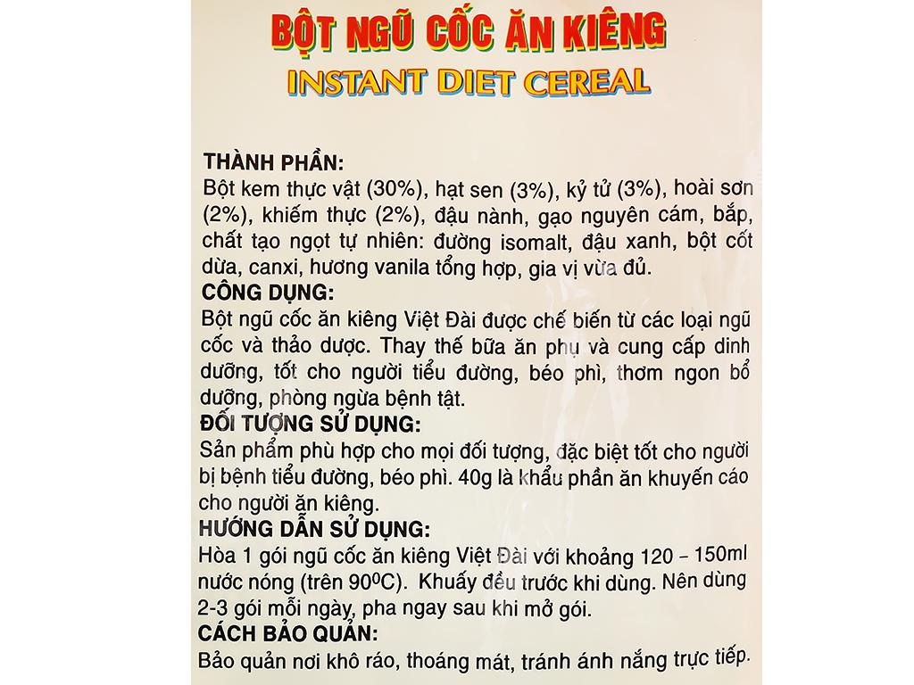 Bột ngũ cốc ăn kiêng Việt Đài bịch 400g 4