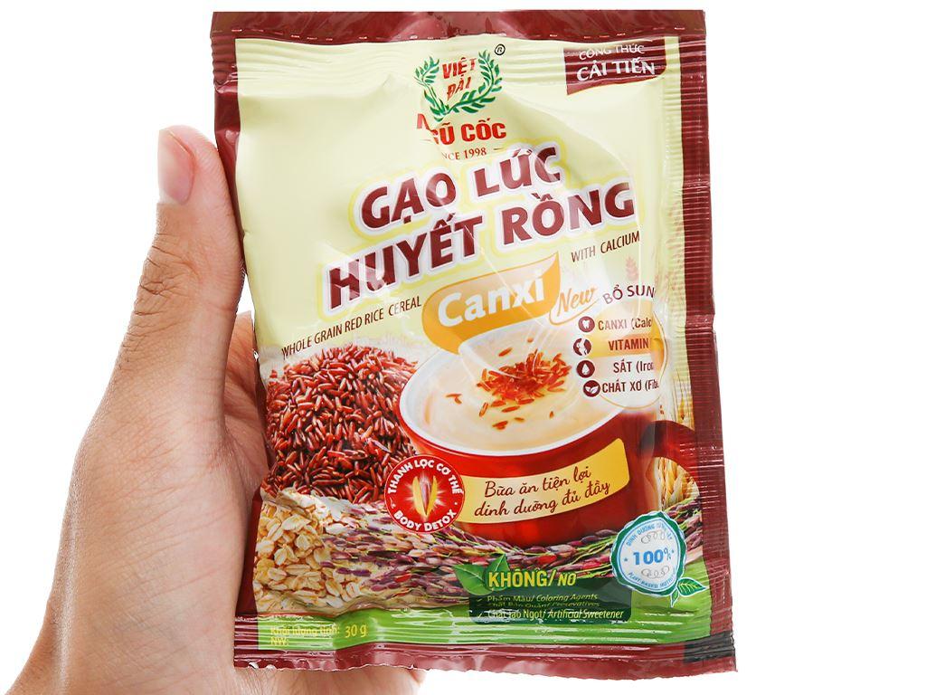 Gạo lức huyết rồng Việt Đài bịch 450g 12