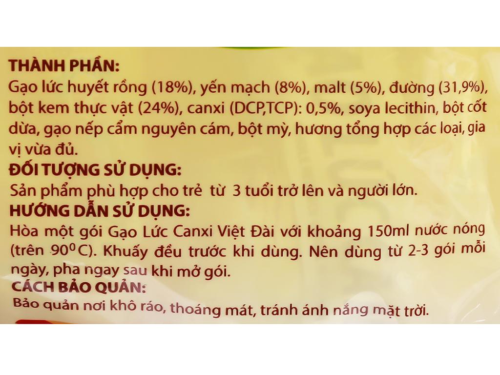 Gạo lức canxi Việt Đài bịch 450g 4