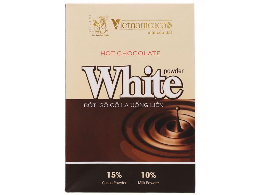 Bột ca cao Vietnamcacao Hot Chocolate White hộp 300g 1