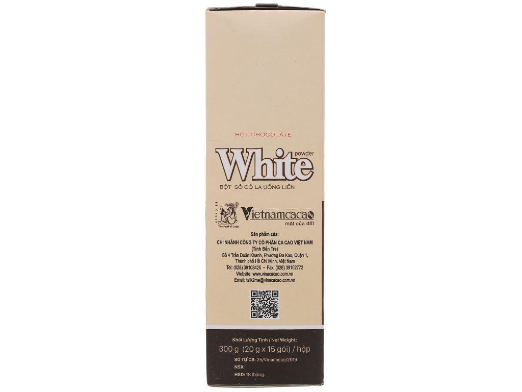 Bột ca cao Vietnamcacao Hot Chocolate White hộp 300g 3