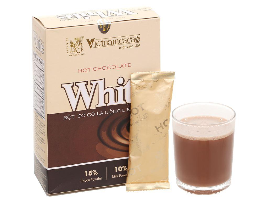 Bột ca cao Vietnamcacao Hot Chocolate White hộp 300g 6