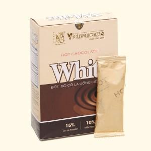 Bột socola uống liền Vietnamcacao Hot Chocolate White hộp 300g