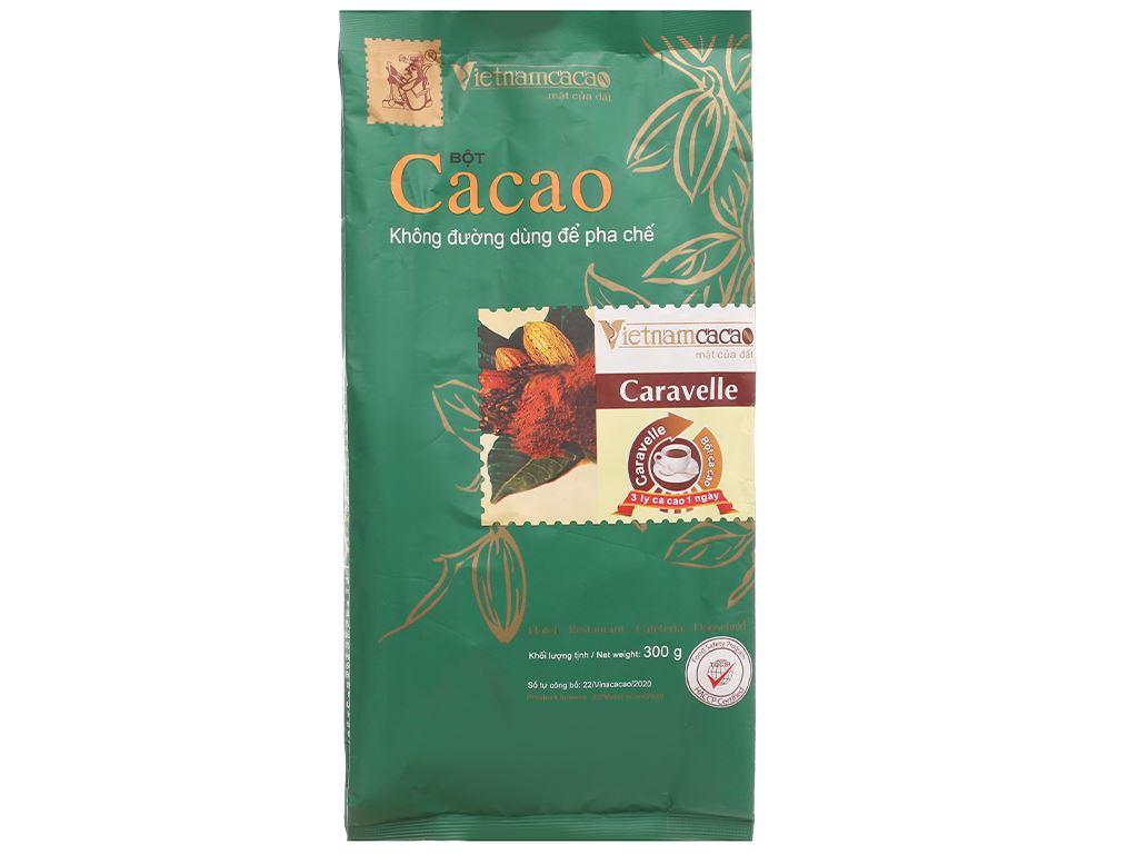 Bột ca cao nguyên chất không đường Vietnamcacao Caravelle túi 300g 1