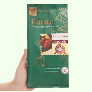 Bột ca cao nguyên chất không đường Vietnamcacao Caravelle túi 300g