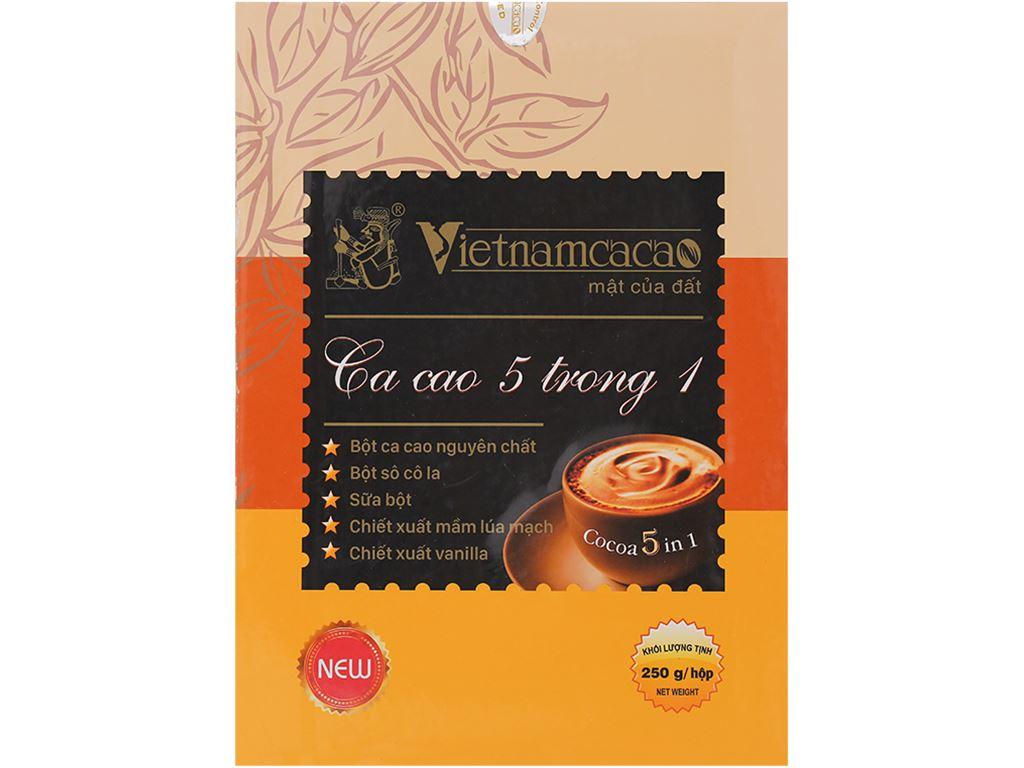 Bột ca cao Vietnamcacao 5 in 1 hộp 250g 1