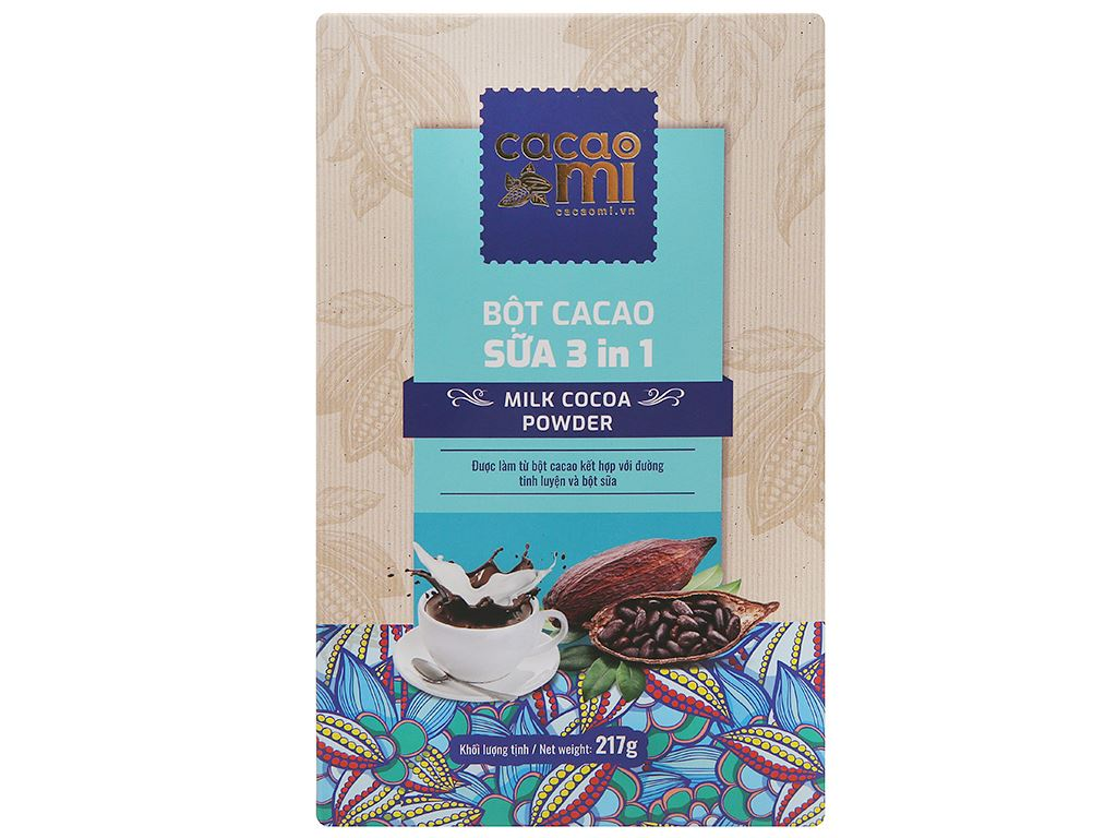 Bột sữa cacao CacaoMi 3 in 1 hộp 217g 1