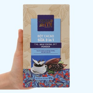 Bột sữa cacao CacaoMi 3 in 1 hộp 127g