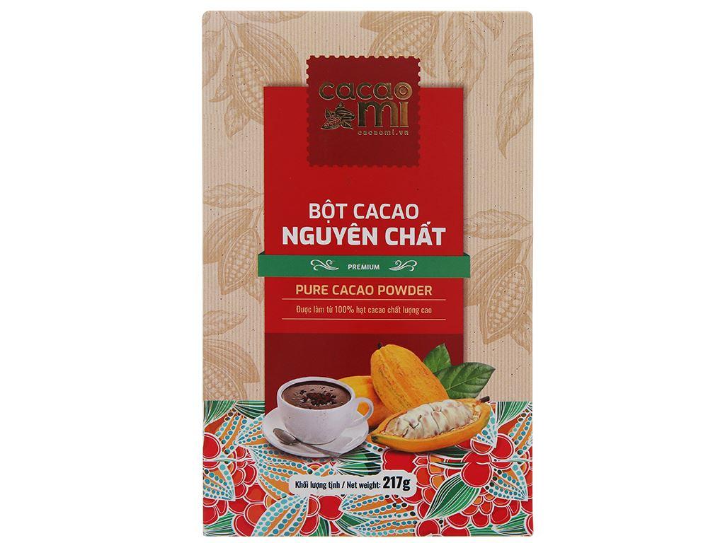 Bột ca cao nguyên chất CacaoMi Premium hộp 217g 1