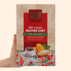 Bột ca cao nguyên chất CacaoMi Premium hộp 217g