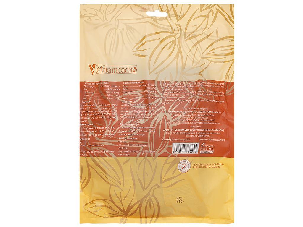 Bột ca cao Vietnamcacao 5 in 1 túi 320g 2