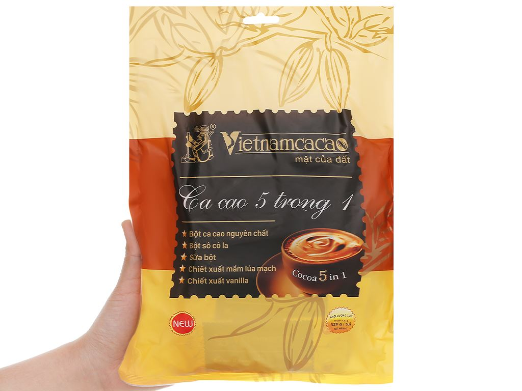 Bột ca cao Vietnamcacao 5 in 1 túi 320g 4