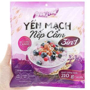 Thực phẩm bổ sung yến mạch nếp cẩm Yumfood gói 210g