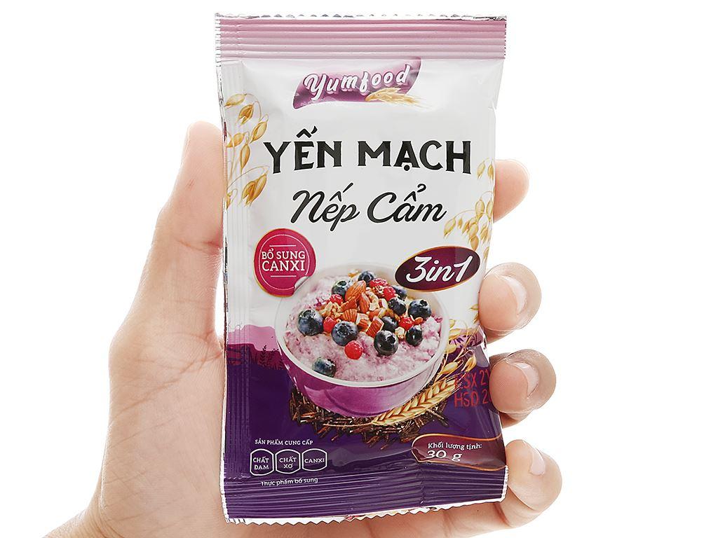 Thực phẩm bổ sung yến mạch nếp cẩm Yumfood gói 210g 4