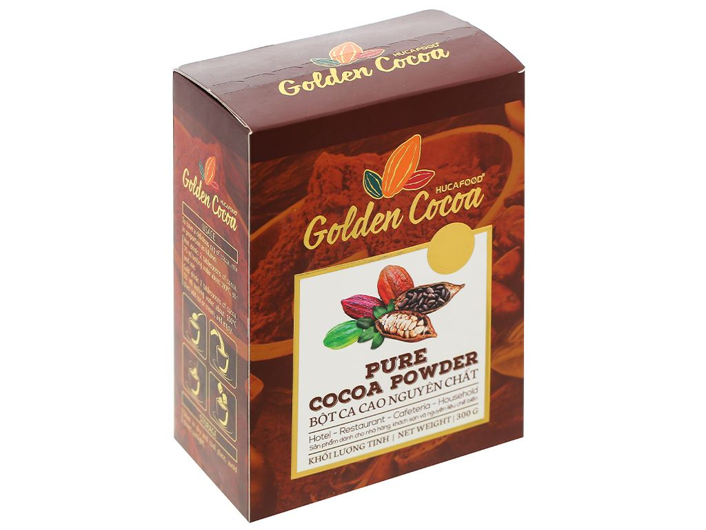 Bột ca cao nguyên chất Con chồn vàng Golden hộp 300g 1