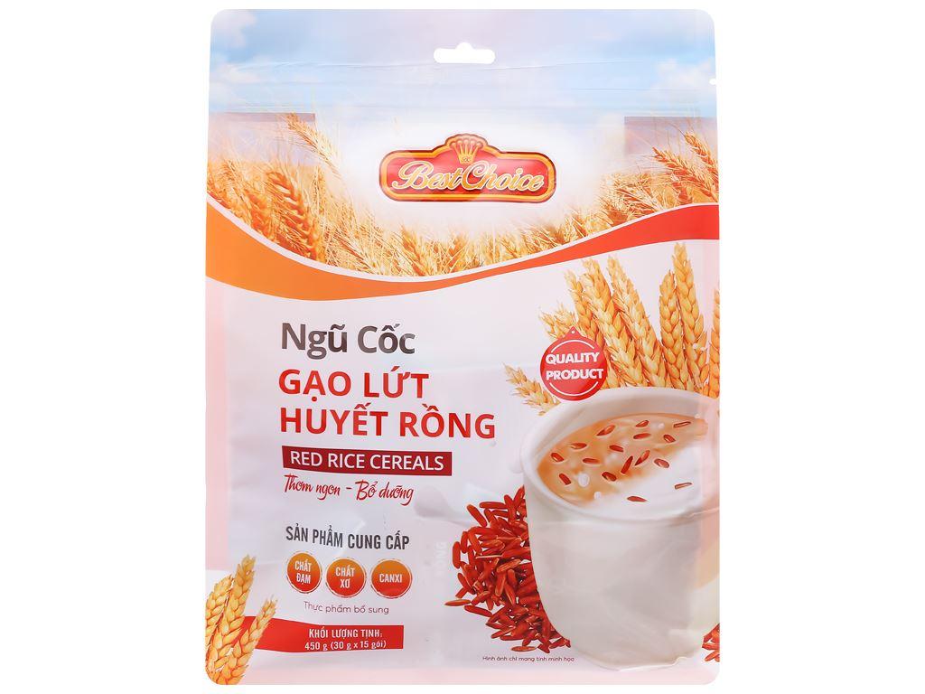 Thực phẩm bổ sung ngũ cốc gạo lứt huyết rồng Best Choice gói 450g 1