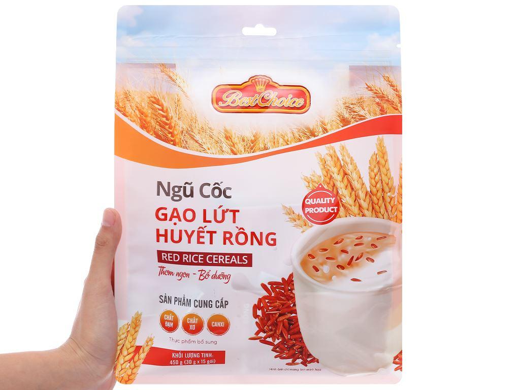 Thực phẩm bổ sung ngũ cốc gạo lứt huyết rồng Best Choice gói 450g 5