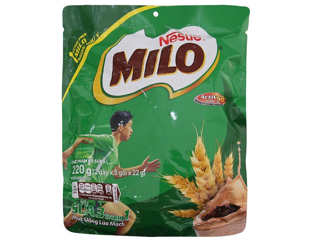 Bột thức uống lúa mạch Milo Active Go túi 220g 1