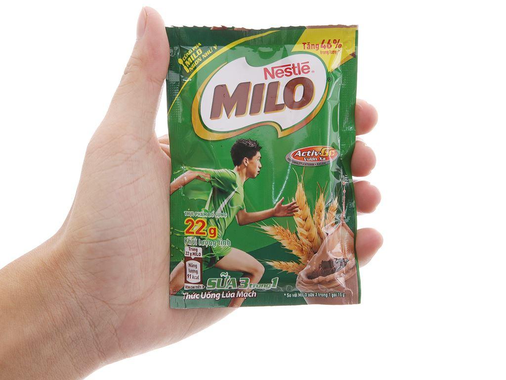 Bột thức uống lúa mạch Milo Active Go túi 220g 4