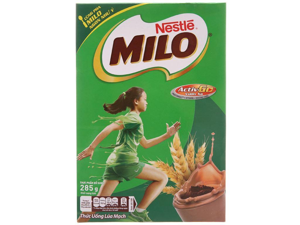 Bột thức uống lúa mạch Milo Active Go hộp 285g 1