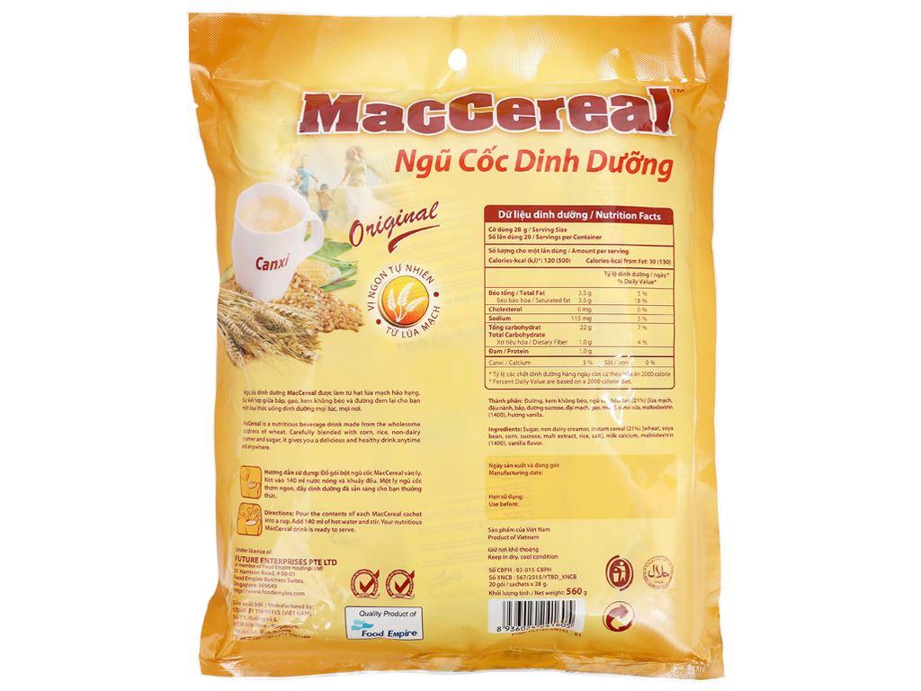 Ngũ cốc dinh dưỡng MacCereal bịch 560g 7