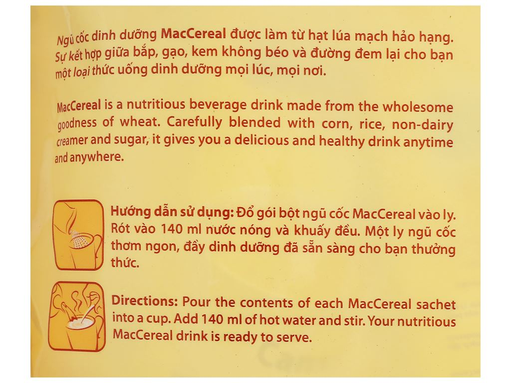 Ngũ cốc dinh dưỡng MacCereal bịch 560g 9