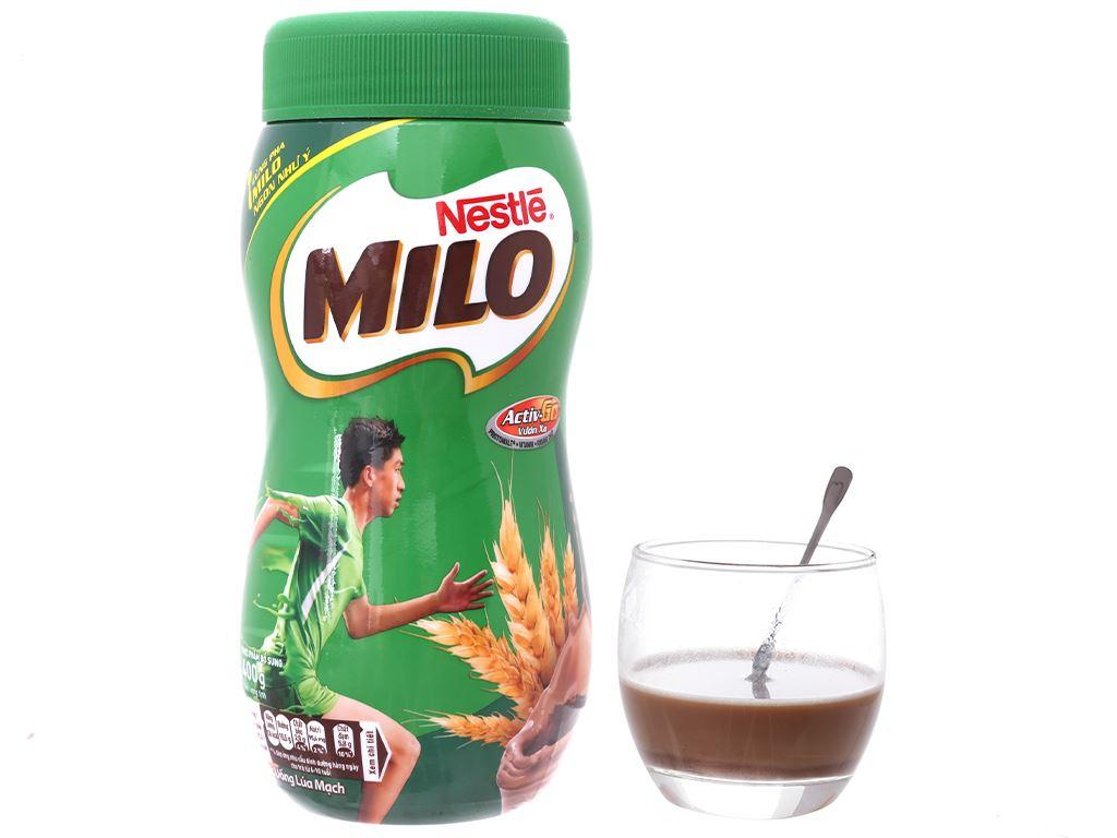 Bột thức uống lúa mạch Milo Active Go hũ 400g 4