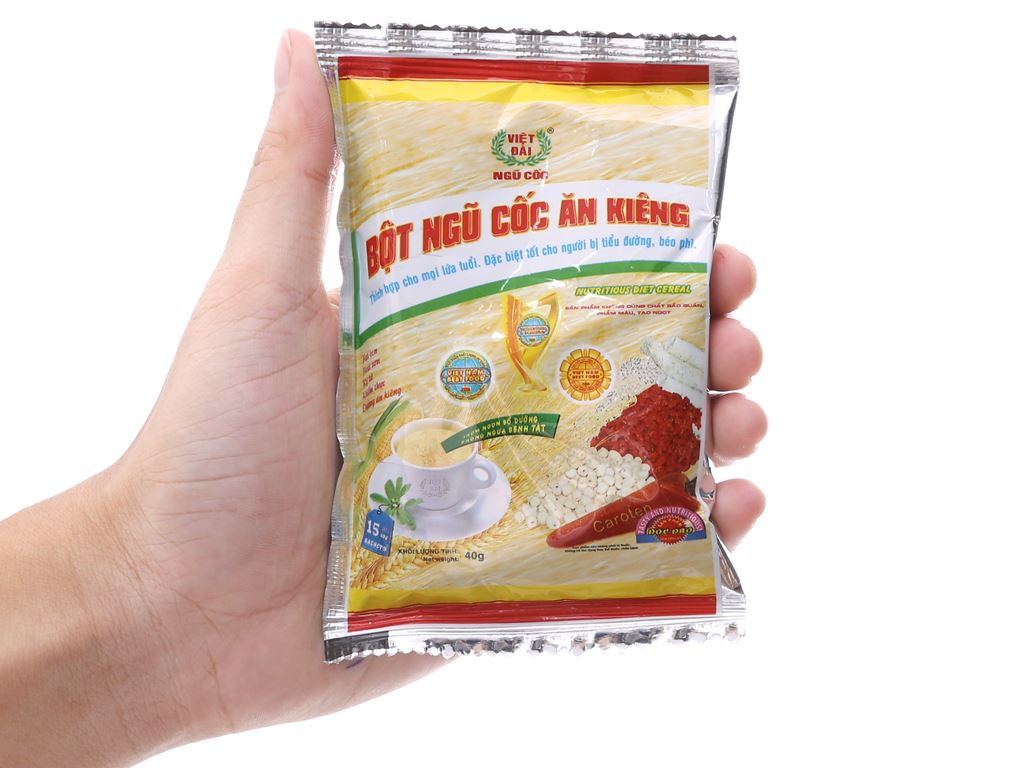 Bột ngũ cốc ăn kiêng Việt Đài bịch 600g 10