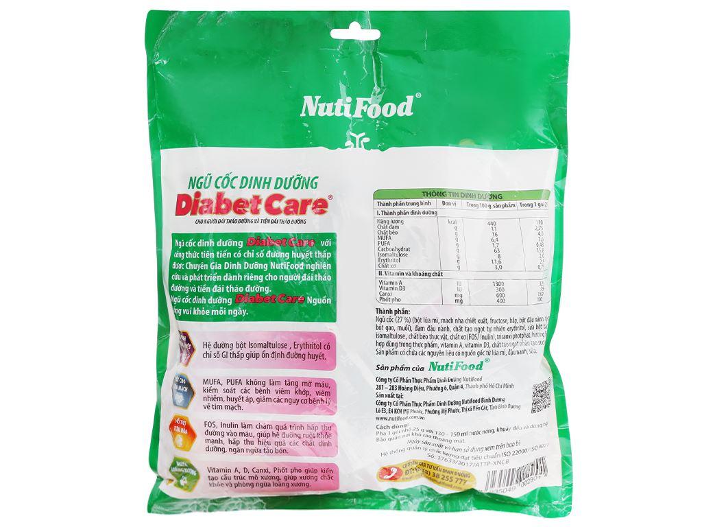 Ngũ cốc dinh dưỡng nguyên cám NutiFood Diabet Care bịch 400g 6