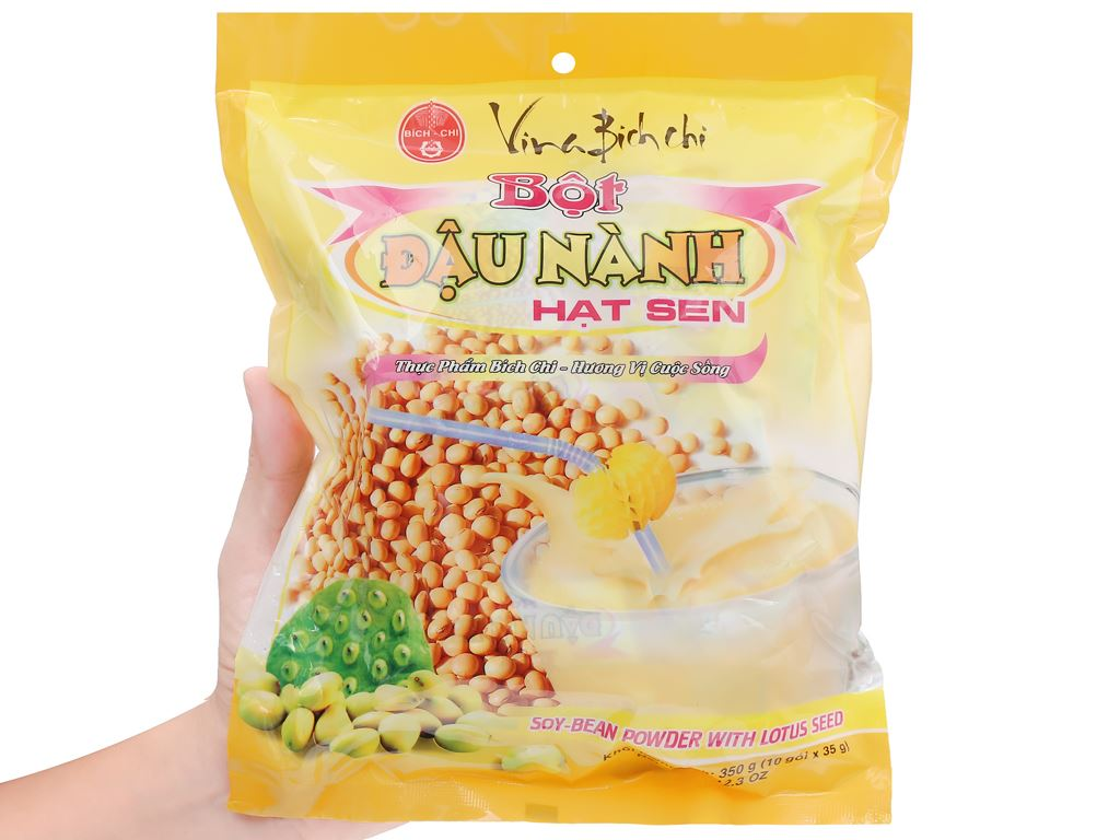 Bột đậu nành hạt sen Bích Chi bịch 350g 9