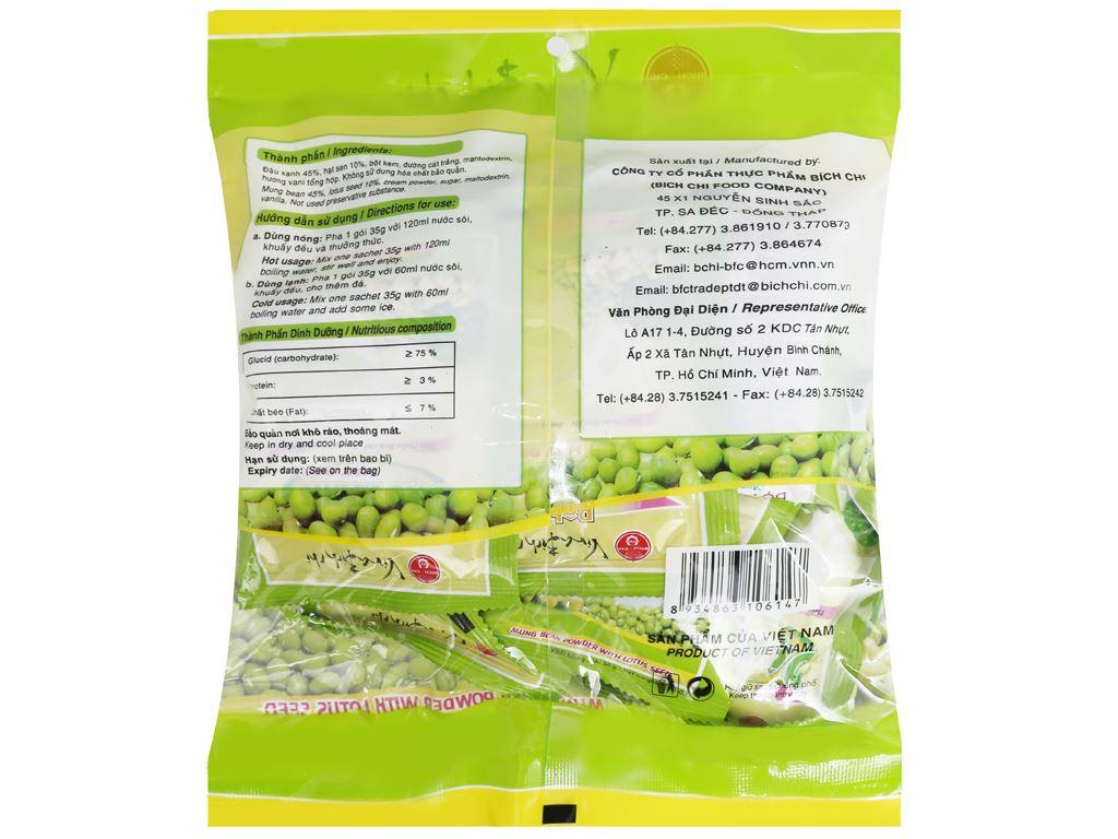 Bột đậu xanh hạt sen Bích Chi bịch 350g 6
